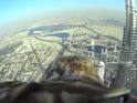 Sony Action Cam Mini is used to capture an eagle's 2,722 foot drop from the tallest building in the world.