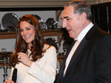 Royal visitor is greeted by cast members - who've shared behind the scenes snaps.