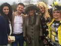 Price and the Duchess of Cornwall mingle at the Cheltenham Festival.