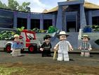 LEGO versions of Sam Neill and Jeff Goldblum run away from dinosaurs in a new teaser.