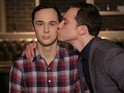 The Big Bang Theory actor is introduced to a rather impressive likeness of Sheldon Cooper.