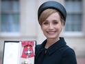 """The actress says the Queen said playing her would be """"quite a challenge""""."""
