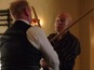 Patrick Stewart sword fights in Blunt Talk