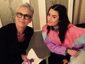 Jamie Lee Curtis and Lea Michele - stars of Ryan Murphy's Scream Queens - unite in new photo.