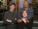 Aidy Bryant makes a sandwich of Dwayne Johnson and George Ezra in new sketch.