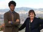 Watch Richard Ayoade and Kathy Burke visit Barcelona FC in Travel Man