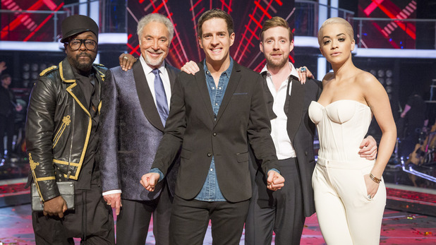 The Voice UK series 4 coaches with Stevie McCrorie