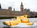 Onlookers were suprised when a real-life Thunderbird 4 took to the waters.