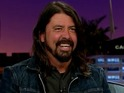 James Corden does a spot of life drawing with Dave Grohl on Late Late Show.