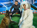 The comedian is pitted against a Belgian Shepherd on the BGT stage.