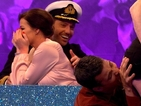 Jessica Wright embarrassed by Joey Essex snog on Celebrity Juice
