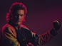 Hasselhoff rides dinosaur in new music video