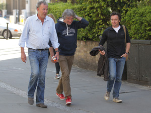 Jeremy Clarkson reunites with Top Gear colleagues James May & Richard Hammond