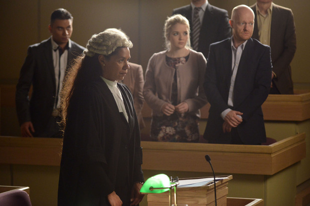 Prosecution lawyer Helen Stritch questions the witnesses