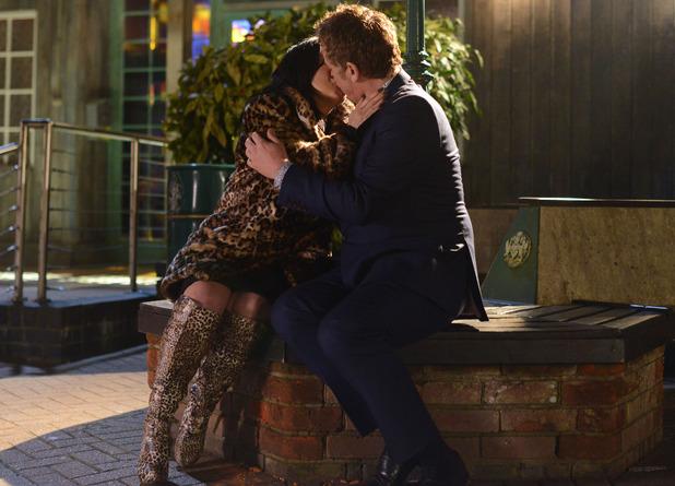 Kat and Alfie kiss.