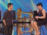 Simon Cowell and Princess the hypnodog in Britain's Got Talent