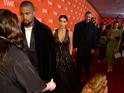 Kim Kardashian West cracked a smile, though...