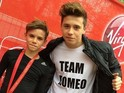 Romeo and Brooklyn Beckham at the London Marathon