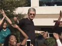 Tim Cook and fellow execs get their moves on at Apple Headquarters.