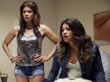 Gina Rodriguez as Jane and Andrea Navedo as Xiomara in Jane The Virgin S01E01: 'Pilot'