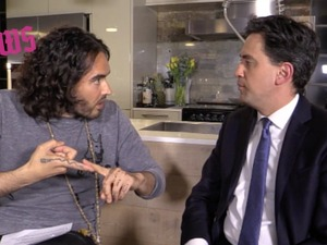 Russell Brand/Ed Miliband on The Trews
