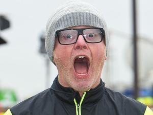 Chris Evans at the London Marathon 2015