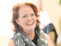 Louise Jameson rehearsing Noises Off