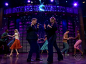 James Corden and Idina Menzel give the audience a taste of Dirty Dancing.
