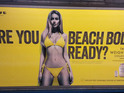 A Protein World advert displayed in an underground station in London