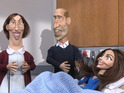 The royal baby sketch sees the Duke and Duchess meet a very familiar face indeed.