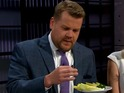 James Corden discovers that he might enjoy eating bugs in a Late Late Show clip.