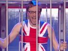 You need to see Stephen Merchant get 'Dirrty' for Lip Sync Battle with Malin Akerman