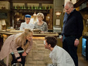 Laurel angrily confronts Marlon at The Woolpack in Wednesday's episode.