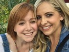 Buffy and Willow reunite as Sarah Michelle Gellar and Alyson Hannigan party