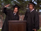 Travel back to 1989 with Dwayne Johnson and Jimmy Fallon for their graduation ceremony