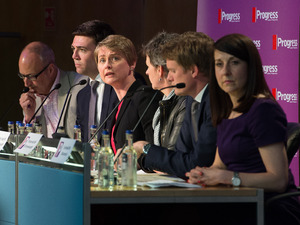 Andy Burnham, Yvette Cooper, Mary Creagh, Tristam Hunt and Liz Kendall at the Progress annual conference