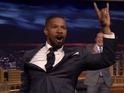 Jamie Foxx shows off his Mick Jagger and John Legend impressions for Jimmy Fallon.
