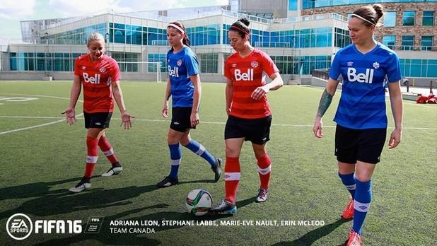 FIFA 16 women's teams