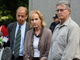 Lyn (L) and Kirk Ulbricht, parents of Silk Road founder Ross Ulbricht, talk with reporters outside the Federal Courthouse on May 29,