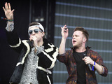 Olly Murs and Nick Grimshaw at Radio 1's Big Weekend 2015
