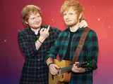 Ed Sheeran unveils a new wax figure at Madame Tussauds