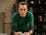 Sheldon wears a Green Lantern t-shirt on The Big Bang Theory