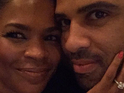 Nia Long and Ime Udoka engagement photo