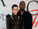 Kim Kardashian and Kanye West attends the 2015 CFDA Fashion Awards