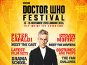 Steven Moffat will join Capaldi among other stars at the London event in November.
