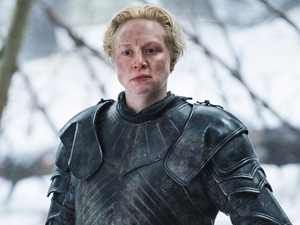 Gwendoline Christie as Brienne of Tarth in Game of Thrones S05E10