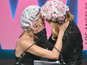 Nicole Kidman, Naomi Watts kiss in shower caps