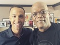 The former JLS star also gets to hang out with movie legend Samuel L Jackson.