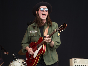 James Bay performs at Glastonbury Festival 2015
