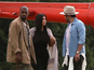 Kim and Kanye fly to Glastonbury in style